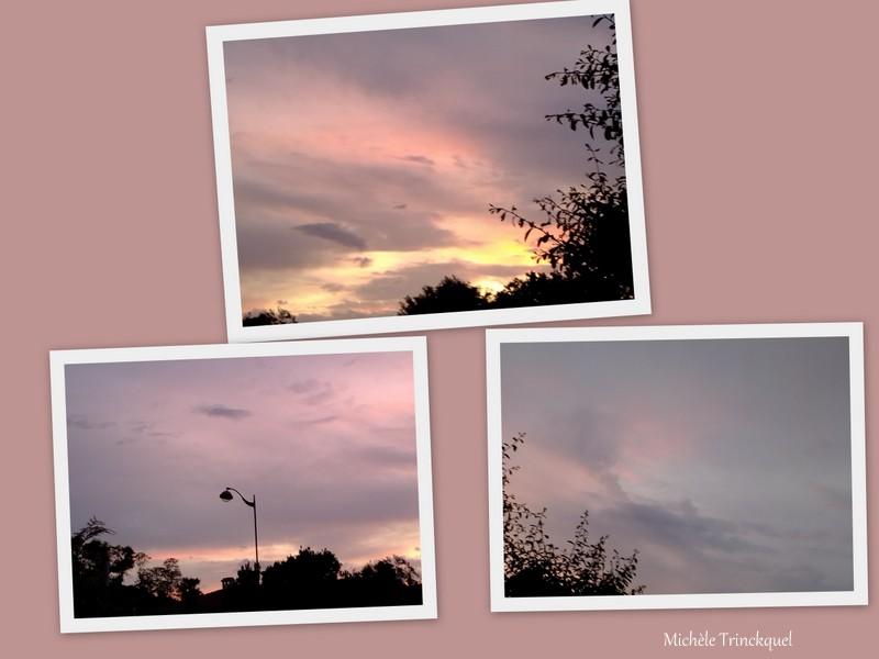 Le ciel coloré au matin du 9 mai....