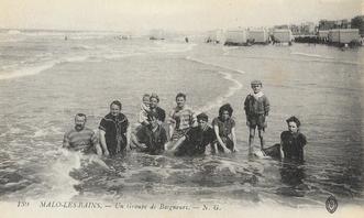 """Les bains de mer en 1900 : Le """"burkini"""" déjà ?.."""