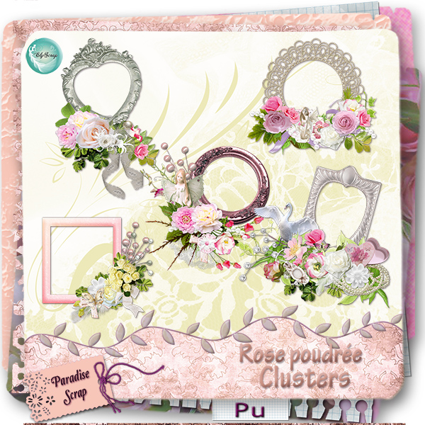 Kit Rose Perlée de ElyScrap