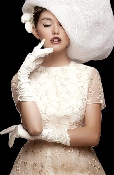 Tubes femmes chapeaux création 14