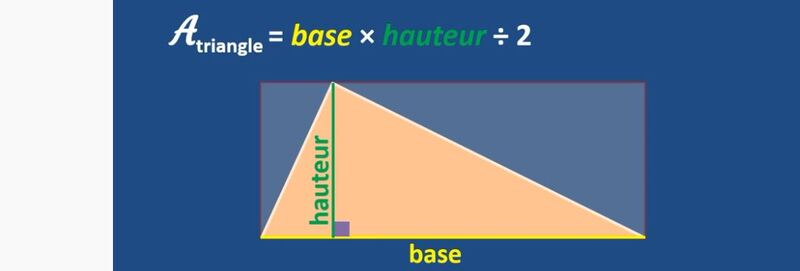 Calculer l'aire d'un triangle