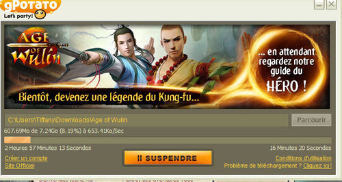 Inscription D'Age of Wulin