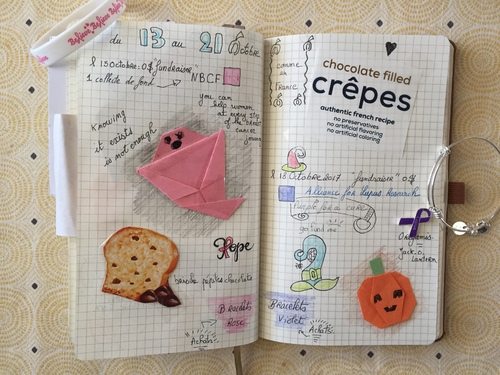 Bullet journal d'Octobre.