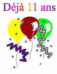Mon blog fête ses 11 ans