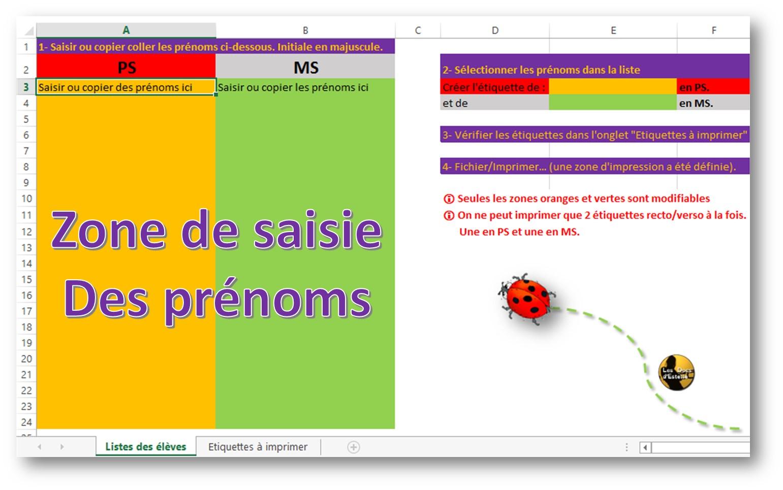Etiquettes Prenoms Ps Ms Ps Ou Ms Les Docs D Estelle