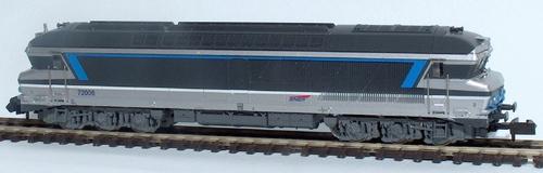 La CC 72006, prototype en livrée multiservice bleue