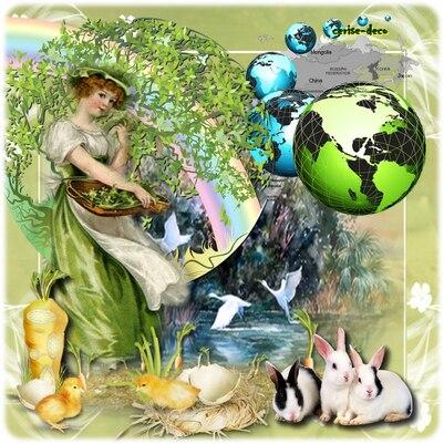 vos créations 2 avec le cluster : la terre et l'écologie en gif