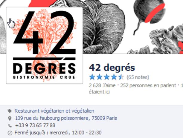Idées provenant du resto 42 degrés à Paris