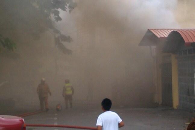 L'incendie de Kuching