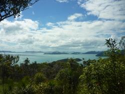 Les Whitsunday vue de la côte