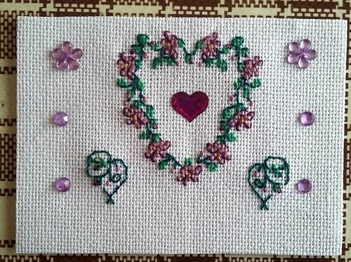 Echange coeur de printemps Véronique pour Line