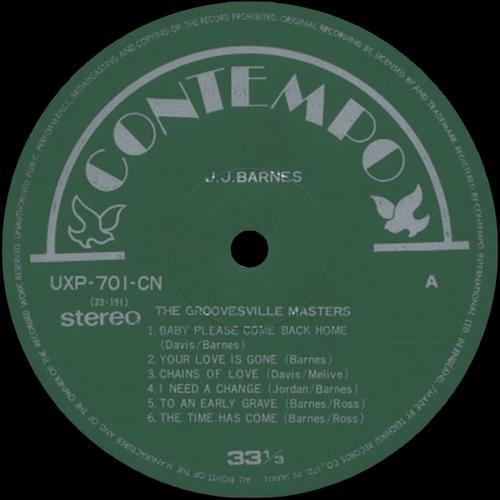"""J.J. Barnes : Album """" The Groovesville Masters """" Contempo Records CLP 520 [UK]"""