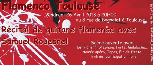 Soirée Flamenco: Vendredi 26 avril à 20H