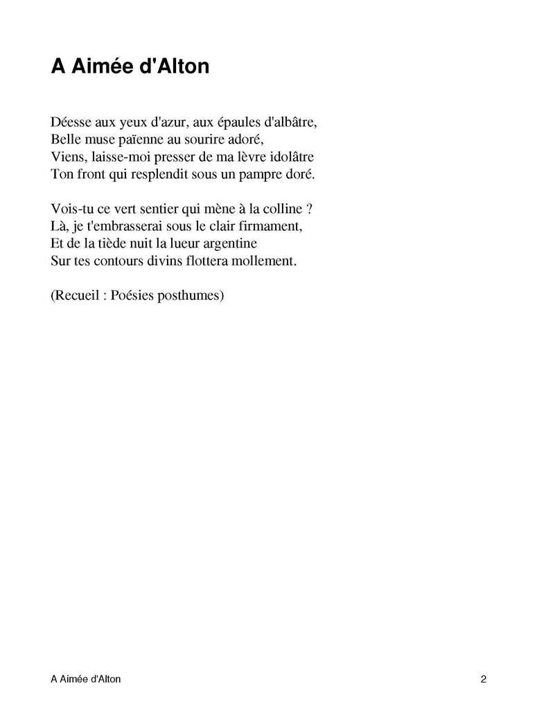 Poésie 2: