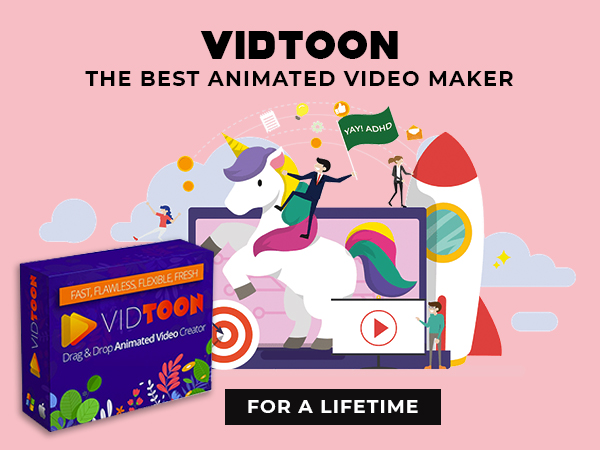 VidToon – The Best Animated Video Maker With Drag & Drop Simplicity For A Lifetime
