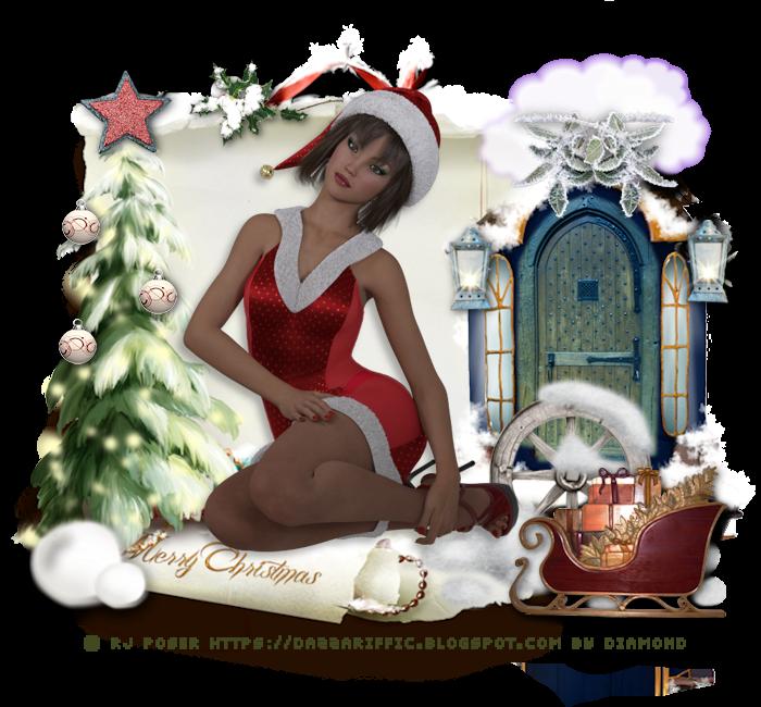 """Tutoriel """"Happy Christmas"""" de Krysten art chez Odysseygraph"""