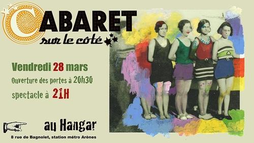 28 mars (vendredi) : Cabaret sur le côté
