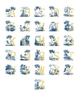 "Alphabet ""jaune-bleu"" 2."