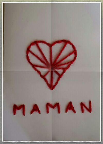 Coudre une carte pour la fête des mères