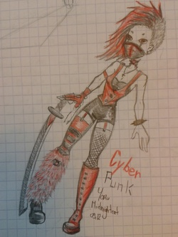 Cyber punk red