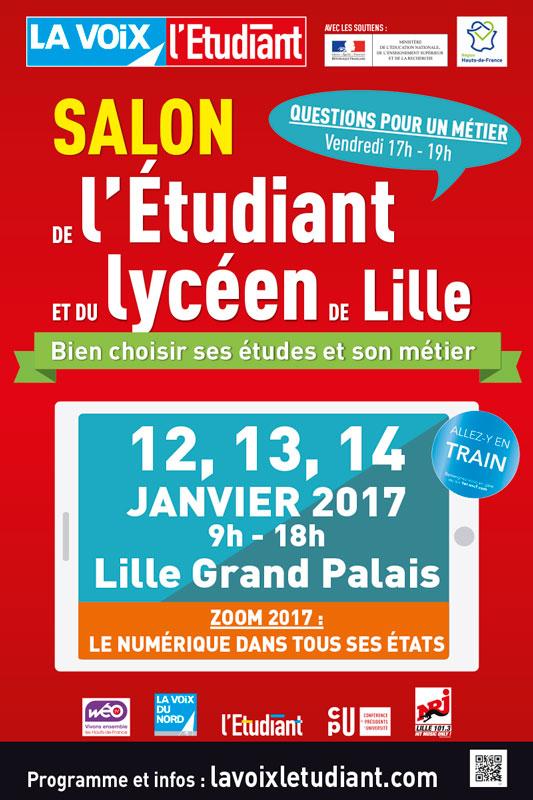 Salon de l'Etudiant et du Lycéen de Lille, les 12, 13, 14 janvier 2017