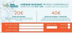 Connaissez-vous le chèque musique de la CCPC?
