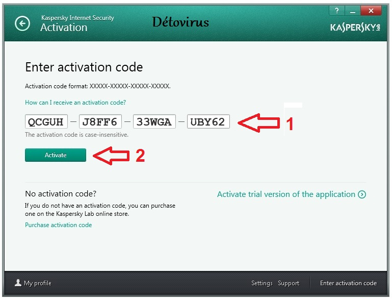 Code d'activation d'un an Kaspersky Internet Security 2019 ...