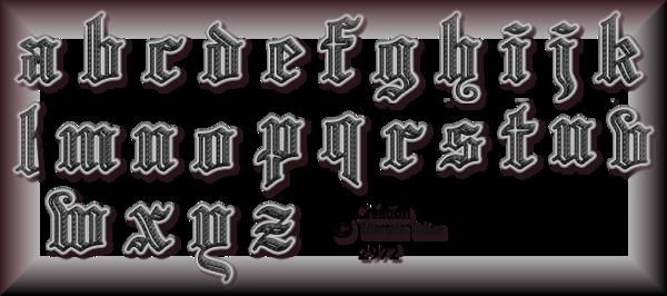 Tube Alphabets 2972 et 2973