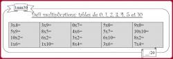Défi tables de multiplication