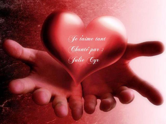 Julie Cyr ~ Je t'aime tant ~