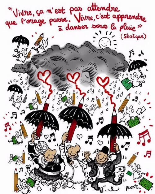 Vivre, c'est apprendre à danser sous la pluie ...