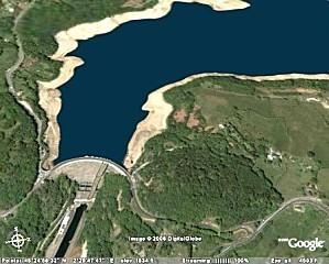 Retenue et barrage EDF de Bort-les-Orgues (19 et 15)