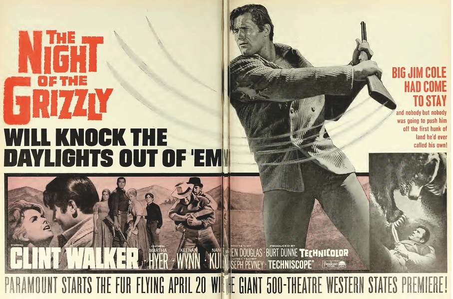THE NIGHT OF THE GRIZZLY BOX OFFICE USA 1966