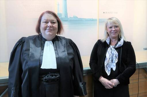 Sophie Simon, première conseillère, et Isabelle Wyart, vérificatrice à la Chambre régionale des comptes de Bretagne.