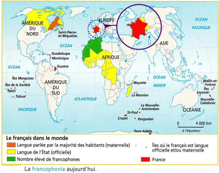Le français dans le monde - la francophonie