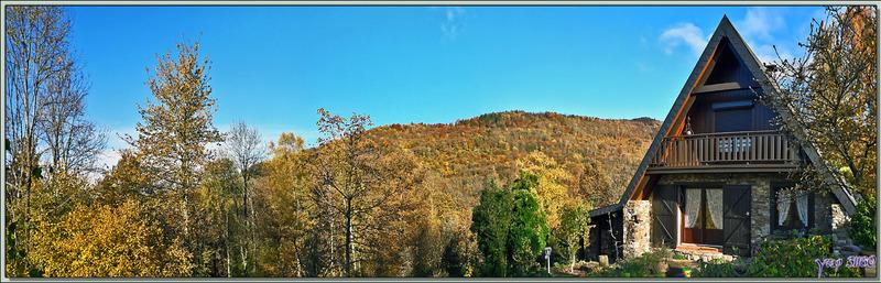 Un peu d'automne avant qu'il ne soit trop tard avec ce panorama encore assez coloré - Lartigau - Milhas - 31