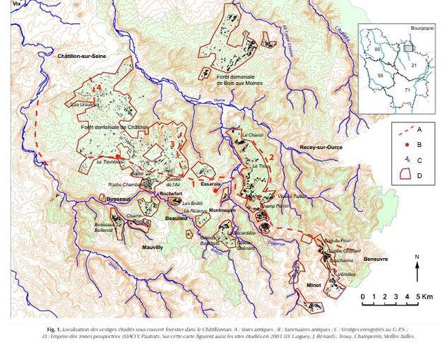 Dix ans de recherches archéologique dans la forêt Châtillonnaise