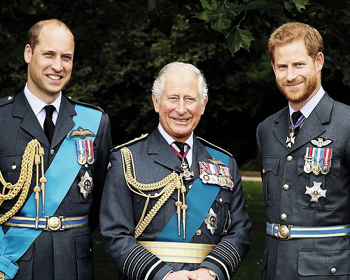 Charles, William et Harry