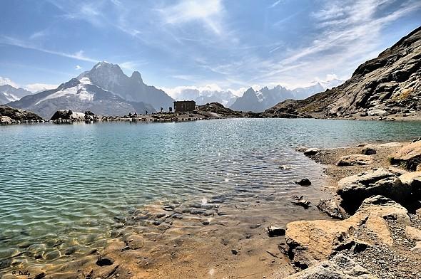 Bonjour....     Lac Blanc - Aiguille verte - Pays du Mont Blanc