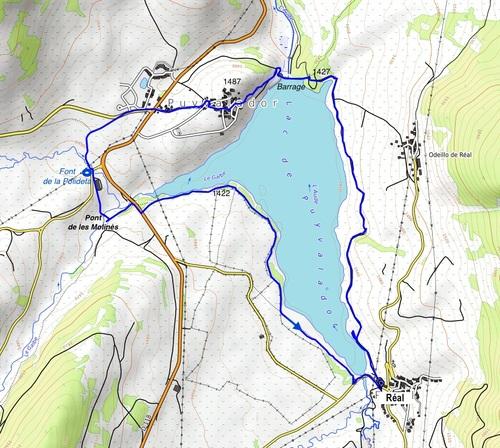Le tour du lac de Puyvalador