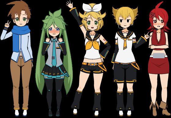 Personnages Pokémon façon Vocaloid