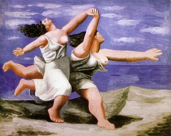 picasso 2 femmes qui courent sur la plage