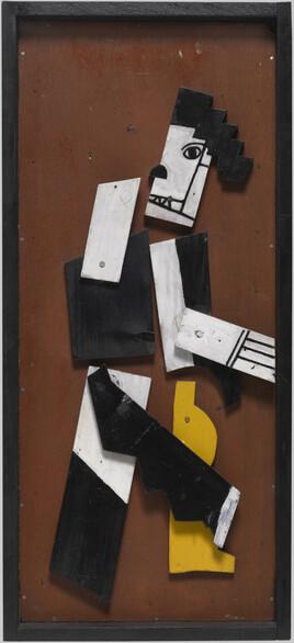 Fernand Léger : Charlot cubiste, 1924. Eléments en bois peints, cloués sur contreplaqué, 73,6 cm x 33,4 x 6. Centre Pompidou, MNAM-CCI / Georges Meguerditchian / Dist. RMN-GP. Adagp, Paris 2017