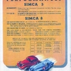 Performances Simca 5 et 8