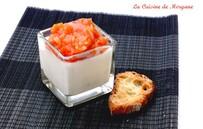 Panacotta à la mozarrella et compotée de tomate/échalotte