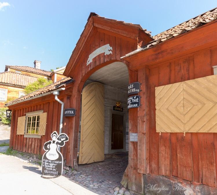 Suède : Écomusée Skansen la petite ville 2/2
