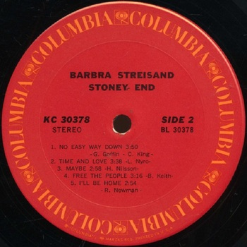 1971 album Stoney end  face 2