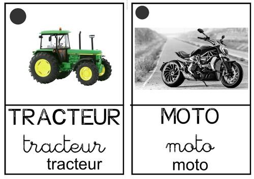 Imagier des moyens de transport (toutes sortes)