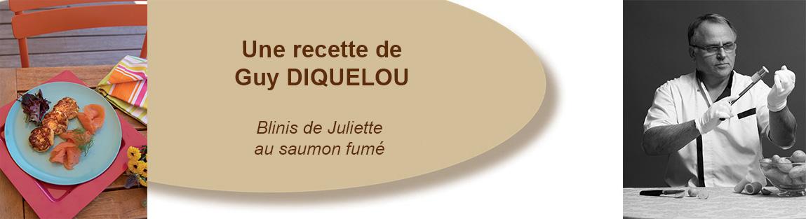Blinis de Juliette au saumon fumé