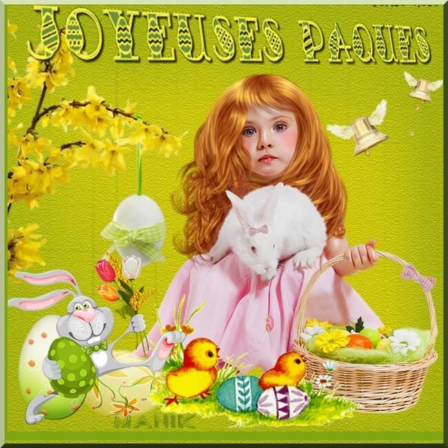 Quelques créations pour Pâques pour vous !joli cadre de mon amie Dalila !